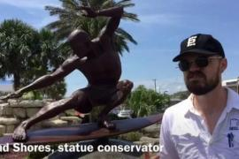 Kelly Slater statue getting a facelift in Cocoa Beach
