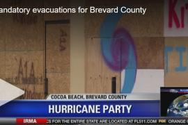 Brevard residents raise a toast against Irma on the way out