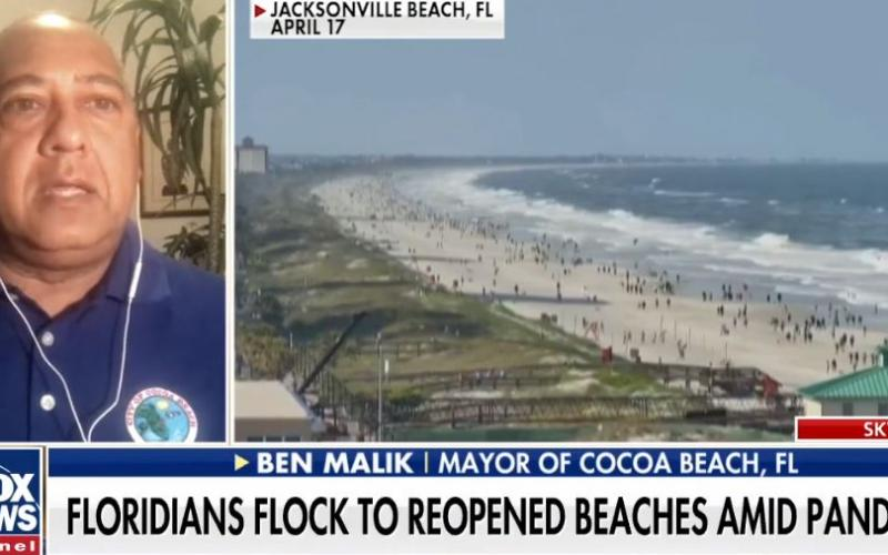 Florida residents flock to Cocoa Beach as restrictions are lifted